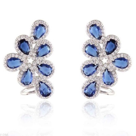 Woman Earring Set 274 Blue