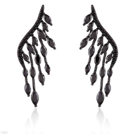 Woman Earring Set 279 Black