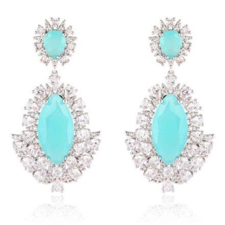 Woman Earring Set 286 Sky Blue