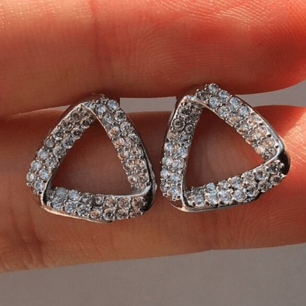 Woman Earring Set 303 Stud Silver