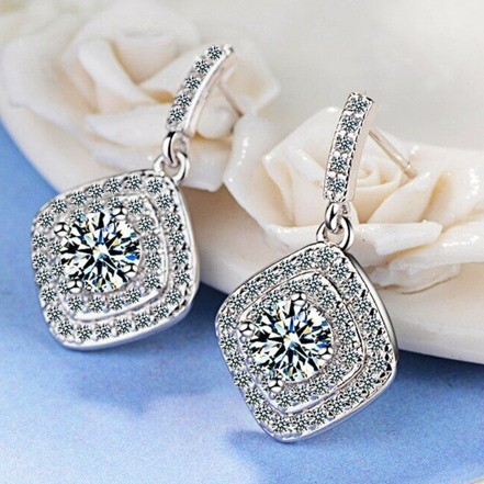 Woman Earring Set 338 Silver Stud Earring