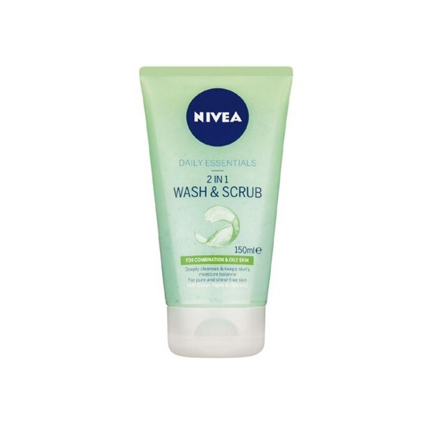 Nivea Daily Essentials 2 In 1 Wash & Scrub in Pakistan, Jewel Mart, 150 ml, Healthy & Skin Care Face Cleanser, cleanses pores, prevent impurities & controls excess oil