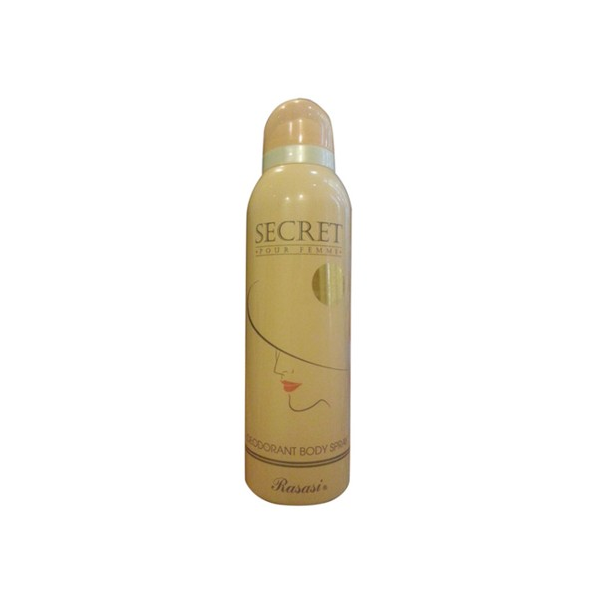 Secret 200ml Rasasi Body Spray in Pakistan