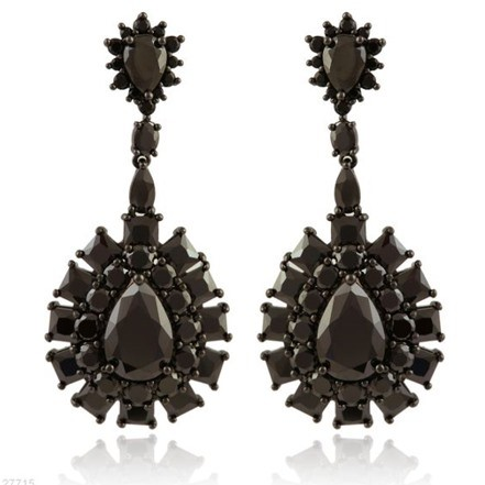 Woman Earring Set 194 Black
