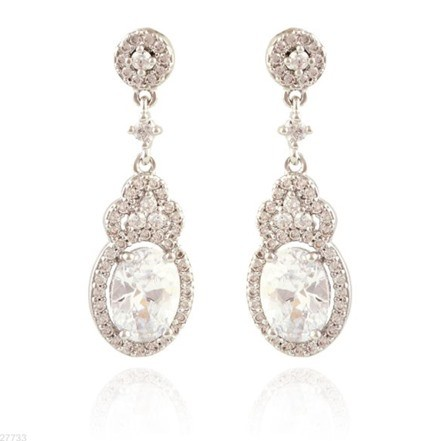Woman Earring Set 205 Silver
