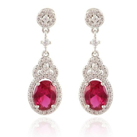 Woman Earring Set 208 Silver