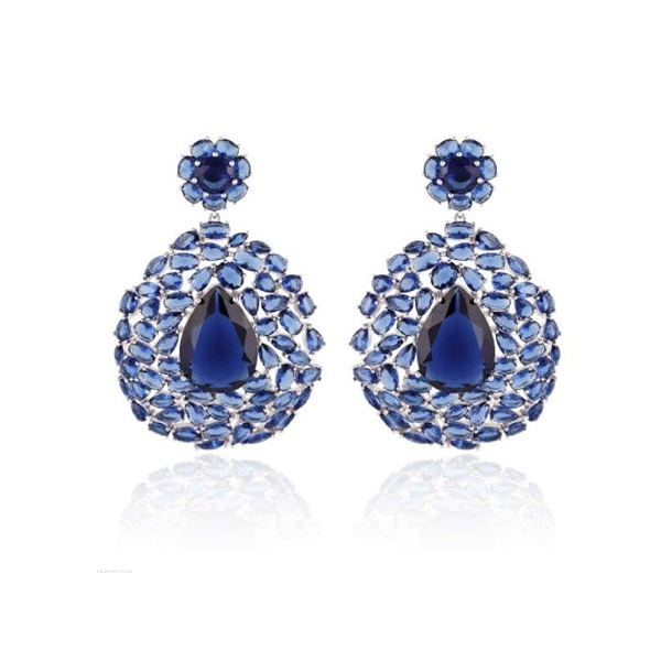 Woman Earring Set 246 Blue