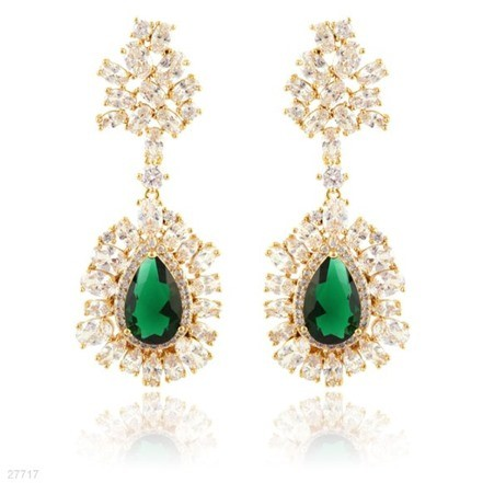 Woman Earring Set 196 Golden
