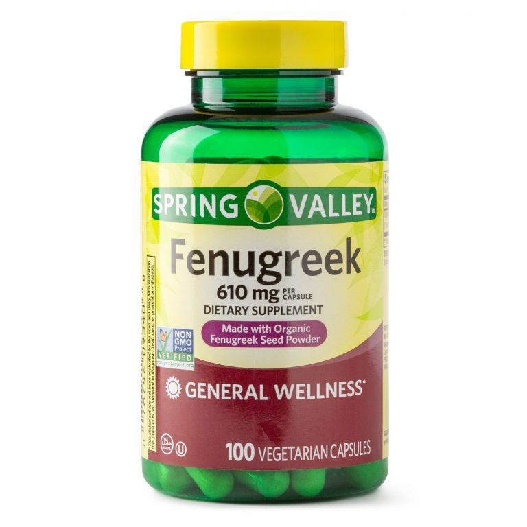 Spring Valley Fenugreek Capsules 610mg