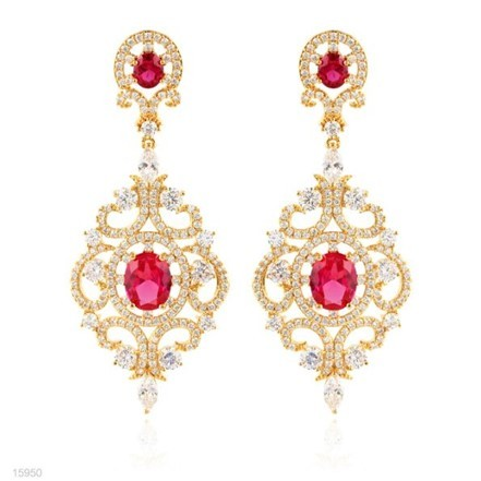 Woman Earring Set 106 Golden