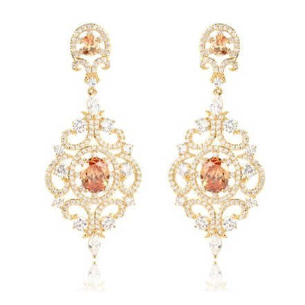 Woman Earring Set 107 Golden