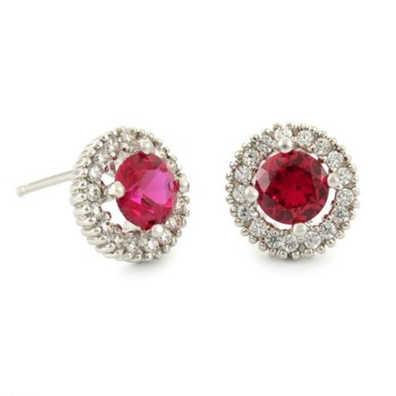 Woman Earring Set 58 Red