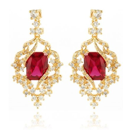 Woman Earring Set 64 Golden