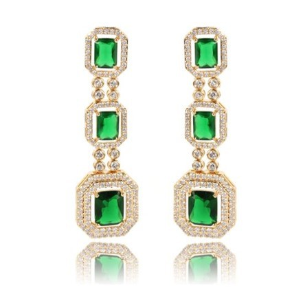 Woman Earring Set 65 Golden