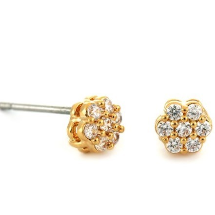 Woman Earring Set 86 Golden