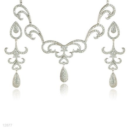 Woman Jewelry Set No 31 Silver
