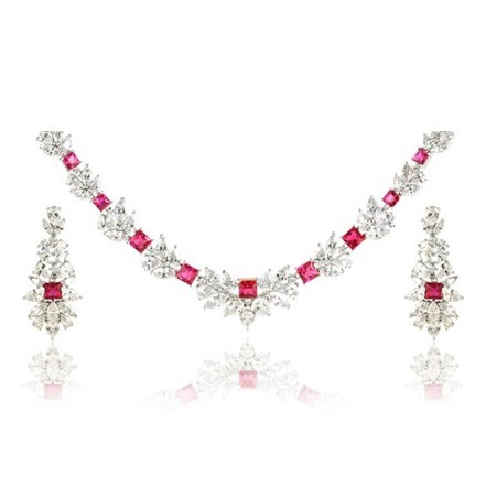 Woman Jewelry Set No 36 Red