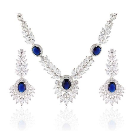 Woman Jewelry Set No 39 Blue