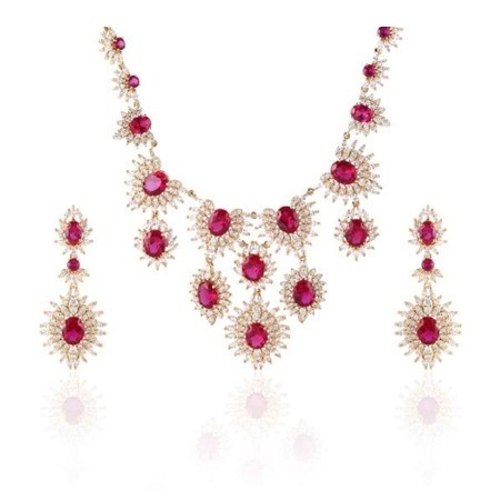 Woman Jewelry Set No 41 Red