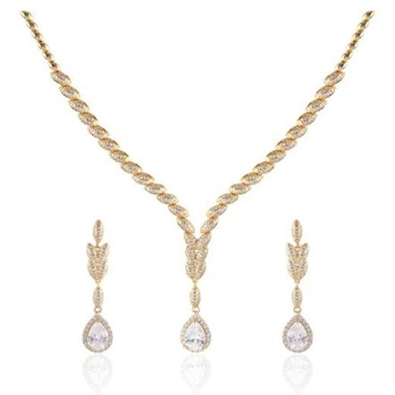 Woman Jewelry Set No 42 Golden