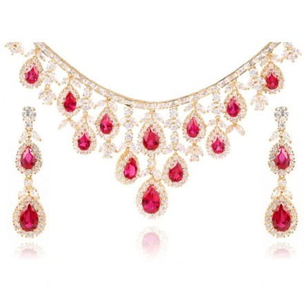 Woman Jewelry Set No 47 Red