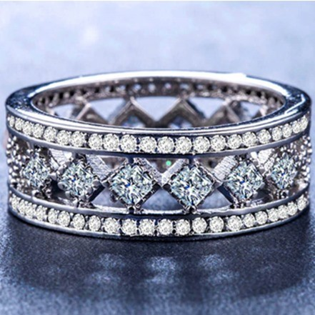 Woman Rings JM-61 Silver German Diamond
