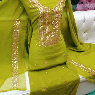 Press Gotta, Fabric, Soft Karinkal, Two Piece Suite Green